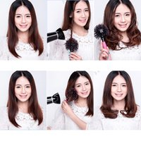 Wholesale NEW D Bomb Curl Brush Styling Salon Round Hair Curling Curler Comb Tool Pink lady s