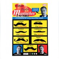 Wholesale Cosplay party prop self adhesive mustaches Men and women fake mustache Party a Beard