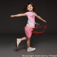 Wholesale Pettigirl Girls Clothing Set Pink and White Striped Printed Top And Pink Shorts Children Summer Outfits Kids clothes CS40322