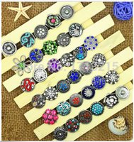 Wholesale mm Mix Many styles Button Ginger Snaps Jewelry Metal Snap Button Charm Rhinestone Styles Hot High quality