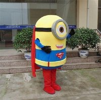 Wholesale 2016 brand new Minions Despicable Me Mascot Costume EPE Fancy Dress Outfit Adult