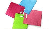 Cheap 50pcs lot 30cm*40cm High Quality 5 kinds of Color Gift Bags With Handles Shopping Trolley Bag Non-Woven Bags Handle