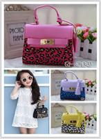 designer baby bag - 2015 New Stylish Child Handbag Designer Girl Purses bag Fashion Children Handbags leopard print Mini Baby BAG Christmas Gift ETB11