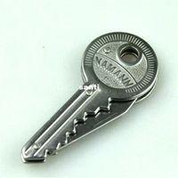 carbon steel ring - Fashion Hot Mini Key Knife Fold Key Pocket Knife Key Chain Knife Peeler Portable Camping Key Ring Knife Tool