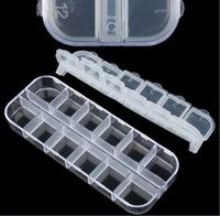 Wholesale Adjustable Plastic Compartment Storage Box Jewelry Earring Bin Case Container
