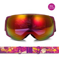 Wholesale Professional Full Film Double Lens Ski Goggles Anti fog Big Spherical Hiking Snowboard Skiing Glasses Unisex Outdoor Sports Eyewear SK239
