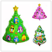 aluminium christmas tree - 50pcs X Mas Party Adornment Foil Balloon Christmas Series Santa trees foil ballons Designs Children Gifts Stage Wedding Airballoon