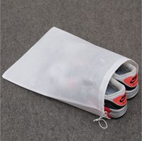 Family Shoe Care Kit White New High quality Environmental protection non-woven bag travel household shoes pumping rope bundle pocket dust proof 29*39cm