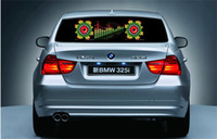Wholesale 2015 Led Car Stickers cm x cm Sound Music Activated EL Car Stickers Equalizer Glow Flash Led Light Car Music Rhythm Light Different