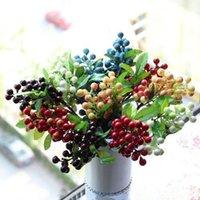 Wholesale Display Artificial Flowers Plants cm inch Centerpiece Berry Simulation Decor Party Wedding Home Valentine Christmas Decoration