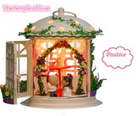 Wholesale Creative DIY Miniature Dollhouse Wrought Iron DIY Kit with Light and Furniture The Temple of Love