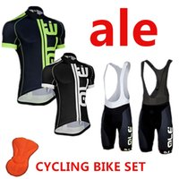 cycling jersey - ALE cycling jersey bike set ropa ciclismo short sleeve bib shorts MTB bike jersey maillots cycling fluo color