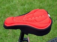 Wholesale 200pcspcs Free shopping New Bicycle Saddle Seat Cover Comfortable D Silicone bike Gel Cycling Seat Cover pad Color