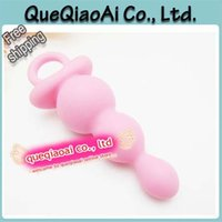 Wholesale w1030 Que746 butt plug soft pink silicone Anal Toys Adult Sex Toys for Women Sex products
