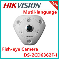 Wholesale Hikvision mutil language MP Fisheye Network Camera DS CD6362F I IR m support POE ip66 Bulit in microphone and speaker