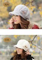 Wholesale 2014 rabbit fur fashion cap cap Bowknot lady s rabbit fur cap Winter warm hat