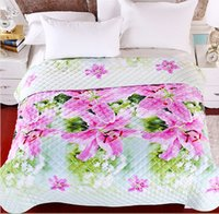 beautiful quilt - New arrival beautiful microfiber polyester quilt printed summer flower D comforter set