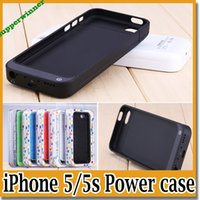 Wholesale For IPhone s c Power Bank Case Rechargerbale Power Backup External Battery Charger Case for IPHONE5 S C with retail package
