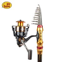 Wholesale Goture Portable Telescopic Spinning Fishing Rod with Reel Combos Carbon Fiber Generic GT4000 BearingsSpinning Fishing Reel