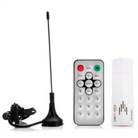 analog box with remote control - Hot Sell Mini Digital USB Analog Signal TV Stick Box Worldwide TV Tuner Receiver FM Radio with Remote Control for PC Laptop