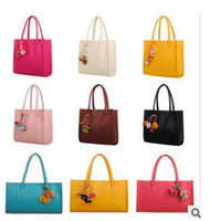 Wholesale 2016 new handbag candy colored flowers fringed handbag section vertical cross section portable shoulder bag Post