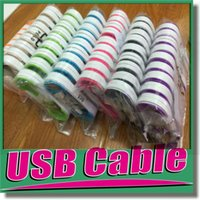 Wholesale Noodle Flat Micro USB V8 Date Cable Dual Color Charging Cord M FT Data Sync With Cable Holder For Samsung Galaxy S6 Android Phones OM CG5