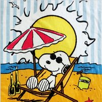 absorbent bath robe - New Arrival cm Cartoon Styles Snoopy Cotton Beach Towels Soft and Absorbent Bath Towels