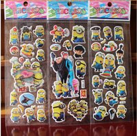 Wholesale 1000 X Despicable Me Minions Sticker Toy Minions Cartoon Stickers For Children Play DIY On Walls Fridge Party Favor Free DHL