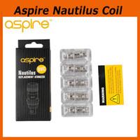 Cheap 100% Authentic Aspire Nautilus BVC Coils 1.6ohm 1.8ohm for Aspire BDC Atomizer CE5 BDC Atomizer ET BDC Atomizers BDC Dual Coils DHL 2210022