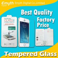 Wholesale Factory price Thin mm Tempered Glass Screen Protector High quality For iPhone Plus Galaxy S4 S5 Note with retail box