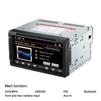 Cheap 7'' Universal 2 Din Car Bluetooth DVD Player USB SD MP3 MP4 MP5 WMA MOV FM Radio Camera Input Multimedia Russian Eng Span French