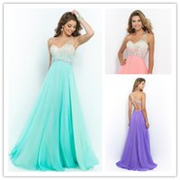 Wholesale Top Allured Colorful Pageant Dresses with Crystal Beading Stylish One Shoulder Prom Dresses Ruched Chiffon Backless Evening Gowns
