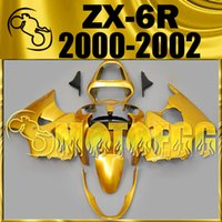 Wholesale Five Gifts Motoegg Injection Mold Plastic Fairings Complete Set For Kawasaki Ninja ZX R ZX R ZX6R Fairings All Gold K60M55