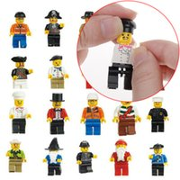 Wholesale 10pcs New Cute Chic Random T Minifigure Figure Men People character Minifigs Grab Bag Kids Toys Children Gift Drop Free Ship