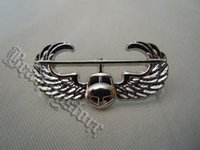 air assault badge - light Empire American special operations helicopter air assault QUALIFICATION BADGE bright silver