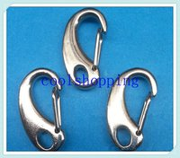 Cheap DHL Freeshipping 1000pcs 32mm Dull Silver Plated Metal C-shaped Swivel Lobster Clasp Clips For Key Ring Chain Paracord Hook handbag buckles