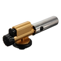 Wholesale Electronic Ignition Copper Flame Butane Gas Burner Gun Maker Torch Lighter For Outdoor Camping Picnic Cooking Welding Equipment21