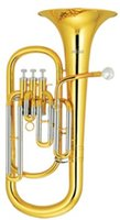 Wholesale 3 Pistons Baritone Bb Tone Brass Body Lacquer With ABS case Orchestral Musical Instruments