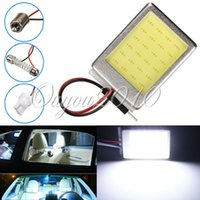 Wholesale 4pcs T10 BA9S Dome Festoon Car Auto Truck License Plate COB LED Light Interior Lamps Bulb Pure White V
