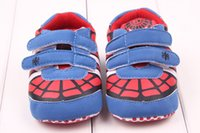 bebe men - Spring And Summer Hot Sell Styles Guaranteed Soft Soled Baby First Walker Red Spider Man Baby Shoes Bebe Sapatos Months S2170