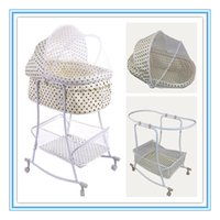 Wholesale 2015 New Arrival Baby Shaker Baby Bed Beige Color With Dot Iron Cradle Bed Years Old Baby Cribs For Boy Or Girl