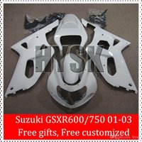 Wholesale Free Gifts GSXR600 GSXR750 K1 Fairing Kit For SUZUKI GSXR GSX R600 GSX R750 White Black Bodywork ABS Cowl