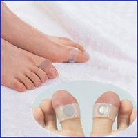 Wholesale 10Pair Body Building Weight Lose Slimming Massager Silicon Magnetic Foot Massage Toe Ring