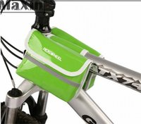 bicycle backpack rack - ROSWHEEL Waterproof Candy Color Cycling Bags Frame Pannier Pouch Rack Package Front Tube Bag Road Bicycle Mountain Bike Basket