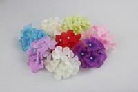 Wholesale 8 Colors Hydrangea Artificial Flower Head Wedding Bouquet Flower Garland Home Decoration