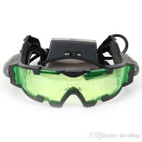 Wholesale Portable Sport Camping Equipment Green Lens Adjustable Night Vision Goggles Glasses Eyewear With Flip out Light