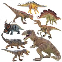Wholesale 2015 new Prehistoric Animals Dinosaurs T Rex Stegosaurus Blikanasaurus Monoclonius Velociraptor etc Figure SolidToy gift Simple packaging