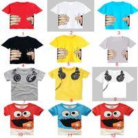 Wholesale 2015 High Quality Summer Boys Or Gilrs Unisex Cartoon Top Tshirt Kids Cotton multicolor optional tshirt Children Clothes SD C02