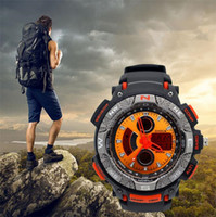best multifunction watch - Fashion Best Men s Sports Watches Multifunction Electronic Double Movement Watch Meters Waterproof Diving Watches For Boys