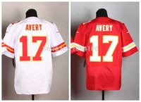 avery color - Factory Outlet Avery Donnie Jersey White Red Team Color New Men Authentic Stitched Elite Football Jerseys Top Quality Free Shippin